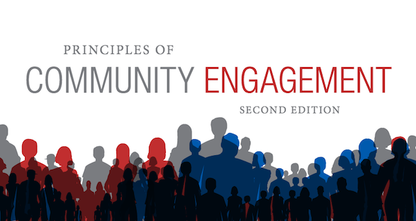 "cover image from linked document saying ""Principles of Community Engagement, second edition"""
